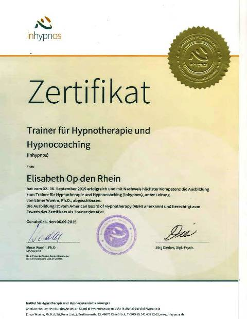 Trainer Hypnose